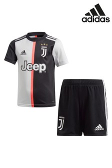 adidas Black/White Juventus FC Home Mini Kit