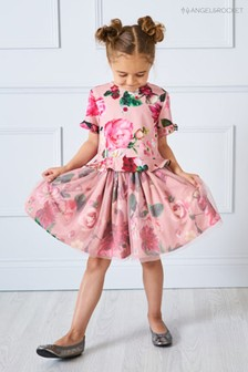 Angel & Rocket Pink Floral Tutu Skirt