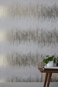 Paste The Wall Foil Stripe Wallpaper
