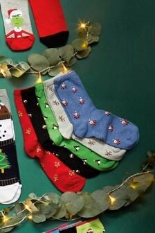 Christmas Animal Socks Five Pack