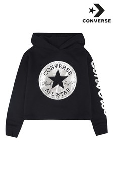 Converse Girls Cropped Fleece Foil Hoody