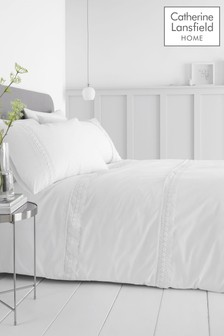 Catherine Lansfield Delicate Lace Duvet Cover and Pillowcase Set