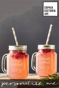 Personalised Set of 2 Mason Jars by Sophia Victoria Joy