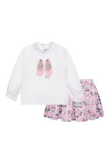 Baby Girls Pink Skirt Set