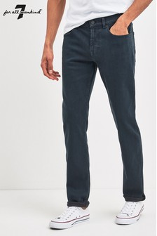 7 For All Mankind® Slim-Fit Jeans in Rinse-Waschung
