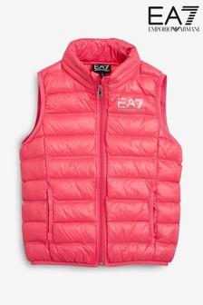 Emporio Armani EA7 Pink Zip Gilet