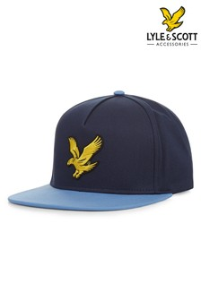 Lyle & Scott Navy Colourblock Eagle Cap