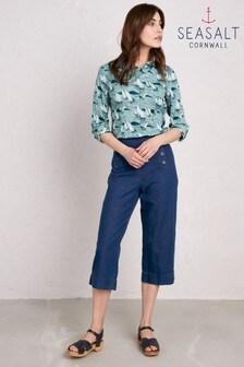 Seasalt Blue Mariner Denim Crop Trouser