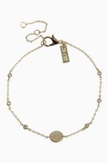 Rose Quartz And Cubic Zirconia Stone Bracelet