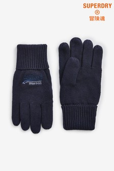 Superdry Navy Gloves