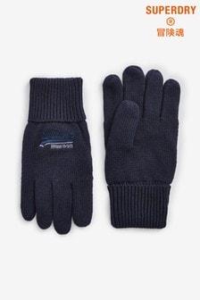 Темно-синие перчатки Superdry