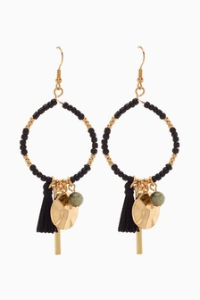 Bead Detail Drop Earrings