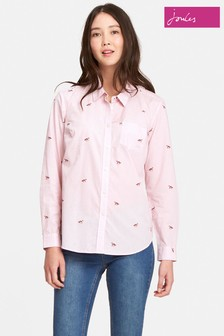 Joules Dusk Pink Fox Classic Fit Shirt