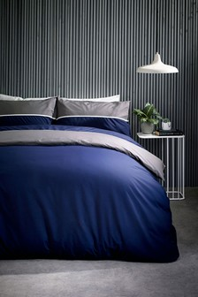 2 Tone Panel Duvet Cover and Pillowcase Set