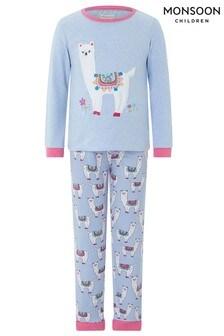 Monsoon Libby Llama Jersey Pyjama