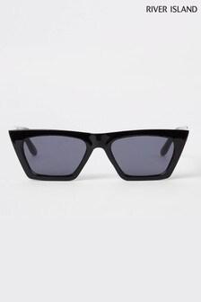River Island Black Clara Smoke Lens Sunglasses