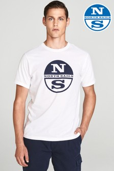 North Sails White Short Sleeve Graphic T-Shirt