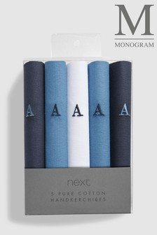 Monogram Handkerchiefs Five Pack
