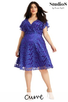 Studio 8 Blue Tiana Textured Dress