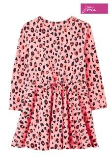 Joules Pink Fiona Jersey Skater Dress