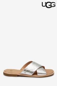 UGG® Joni Silver Metallic Slider