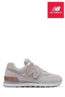 New Balance Rose Gold 574 Trainer