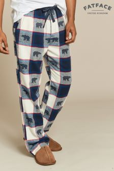 FatFace Blue Polar Bear Jacquard Lounge Pant