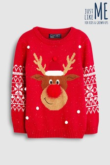 Christmas Reindeer Knit Jumper (3-16yrs)