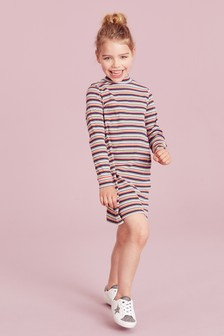 High Neck Long Sleeve Dress (3-16yrs)