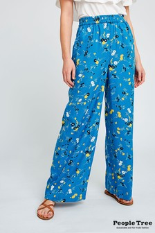 People Tree Blue Paige Floral Trouser