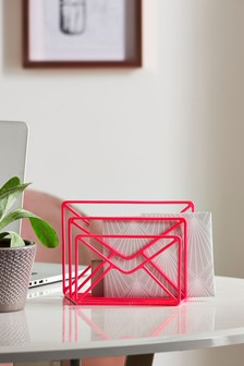 Neon Wire Letter Rack