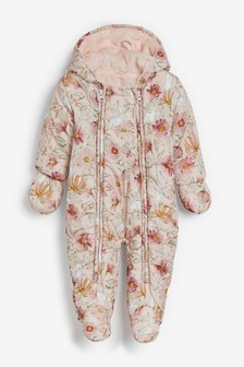 Floral Character Print Pramsuit (0mths-2yrs)