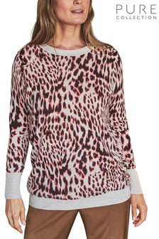 Pure Collection Animal Cashmere Boyfriend Sweater