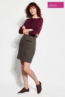 Joules Sheridan Check Tweed Skirt