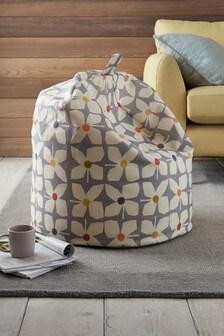 Retro Geo Floral Bean Bag