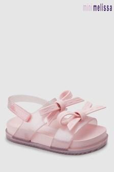 Mini Melissa Pink Double Bow Sandal