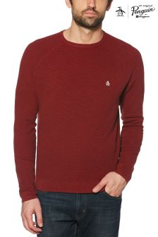 Original Penguin® Biking Red Heather Mini Texture Sweater