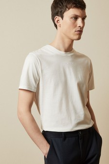 Ted Baker White Ocra T-Shirt With Embroidered Logo