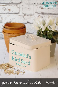 Personalised Bird Seed Tin by Jonny's Sister