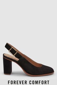 Forever Comfort Block Heel Slingbacks
