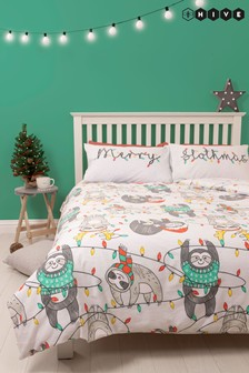 Hive Merry Slothmas Bed Set