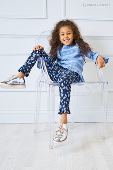 Angel & Rocket Blue Animal Print Trouser