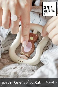 Personalised Bear Ring Toy by Sophia Victoria Joy