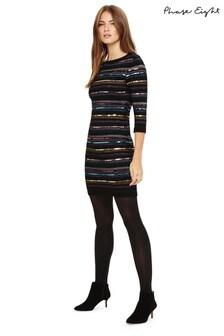 Phase Eight Multi Jesse Sequin Shimmer Stripe Dress