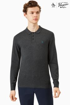 Original Penguin® Dark Charcoal Polo Sweater