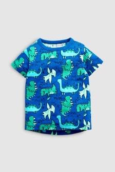 短袖恐龍印花T恤 (3個月至7歲)