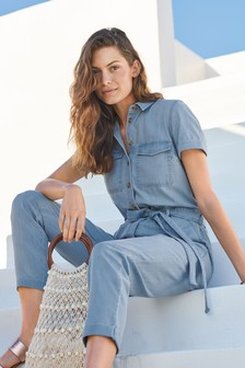Short Sleeve Denim Boilersuit