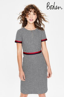 Boden Navy Adelaide Tweed Dress