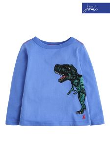 Joules Blue Finlay Screen Print T-Shirt