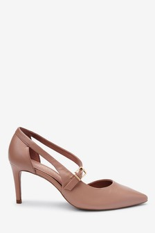 Leather Asymmetric Two Part Point Shoes